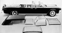 "<p>This June 1961 photo shows President. John F. Kennedy's Lincoln Continental limousine. <span style=""font-size: 1em; background-color: transparent;"">The limo was the first presidential car equipped with a transparent roof for all compartments and has other options including fabric roof covering, or use as a convertible, as well as combinations for the rear, middle and front compartments.</span></p>(Ford Motor Company /AP)"