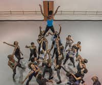 Members of Dallas Black Dance Theatre rehearse Andy Noble's dance <i>Tower&nbsp; </i>at their studio on Oct. 24, 2017.&nbsp;&nbsp;(Rex C. Curry/Special Contributor)