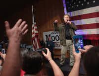 FAIRHOPE, AL - SEPTEMBER 25:  Former advisor to President Donald Trump and  executive chairman of Breitbart News, Steve Bannon, speaks at a campaign event for Republican candidate for the U.S. Senate in Alabama Roy Moore on September 25, 2017 in Fairhope, Alabama. (Scott Olson/Getty Images)
