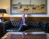 Speaker of the House Joe Straus poses for a portrait in his office on the third day of a special legislative session on Thursday, July 20, 2017 at the Texas state capitol in Austin, Texas. (Ashley Landis/Staff Photographer)