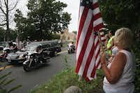 The funeral of one of the crash victims, U.S. Navy Petty Officer Brian Bill, on August 19, 2011 in Stamford, Connecticut. (Spencer Platt/Getty Images)