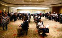 Thousands attended the You're Hired Job Fest at the Sheraton Dallas Hotel in Dallas on Thursday.(Nathan Hunsinger/Staff Photographer)