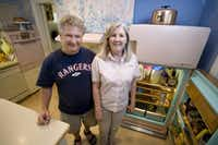 Lee and Melissa Higginbotham own a working vintage 1956-57 GE fridge and a GE stove and oven which came with the house they bought over 20 years ago.(JUAN GUAJARDO)