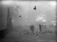 "A smog-covered Trafalgar Square in London, Dec. 5, 1952.  (Hachette Books/<p><span style=""font-size: 1em; background-color: transparent;"">TopFoto-The Image Works</span></p>)"