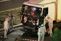 A truck drove into crowds of people celebrating Bastille Day on July 14, 2016, in Nice, France, killing 86 people. (File Photo/The Associated Press)