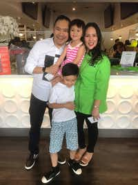 Asian Mint chef Nikky Phinyawatana and her family.(Courtesy)