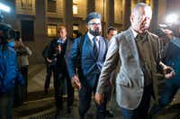 "<p><span style=""font-size: 1em; background-color: transparent;"">Dallas Cowboys star Ezekiel Elliott (center) exits federal court Monday in New York after a judge denied his motion for a preliminary injunction to at least temporarily block a six-game suspension imposed by the NFL.</span></p>(Craig Ruttle/The Associated Press)"