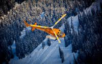 Guests at Skeena Heliskiing's Base Camp have an Astar AS350 helicopter at their exclusive disposal. (Skeena Heliskiing)