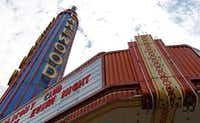 The Lakewood Theater, symbolic heart of Old East Dallas, is currently vacant in Dallas.(Jae S. Lee/Staff Photographer)