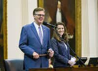 Lt. Governor Dan Patrick during the third day of a special legislative session on July 20, 2017 at the Texas state capitol in Austin.(Ashley Landis/Staff Photographer)