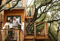 Larissa and her husband KC (last name withheld) built a tree house in their backyard in January 2017. (Andy Jacobsohn/Staff Photographer)
