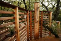 An outdoor shower in the tree house(Andy Jacobsohn/Staff Photographer)