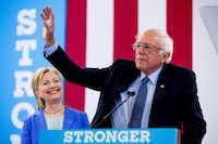 Sen. Bernie Sanders endorsed Hillary Clinton in July 2016.(Andrew Harnik/AP)