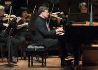 Pianist Stephen Hough performs with the Dallas Symphony Orchestra on Thursday, Nov. 2, 2017.  (Rex C Curry/Special Contributor)