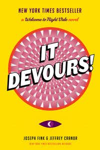 The cover of <i>It Devours</i> was designed by Dallas illustrator Rob Wilson, and the book was co-written by native Texan Jeffrey Cranor.(HarperCollins)