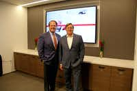 Ran Holman (left), managing principal of C&W's Dallas office, and Tod Lickerman, CEO of the Americas for the commercial real estate company.(C&W)