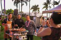 "<p><span style=""font-size: 1em; background-color: transparent;"">Hawaiian chef Roy Yamaguchi (right) is a founder of the Hawaii Food & Wine Festival and a proponent of Hawaii-grown produce.</span></p>(Michael Hiller)"