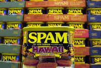 A collector's limited edition Hawaii can of Spam(Lucy Pemoni/The Associated Press)