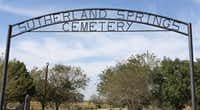 Sutherland Springs Cemetery sits off North FM539 in Sutherland Springs.(Louis DeLuca/Staff Photographer)