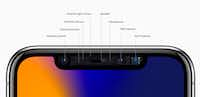 A view of the sensors in the iPhone X's notch(Apple)