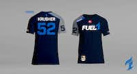 The Dallas Fuel's home jerseys will display the Jack in the Box logo when Overwatch League play begins in December.