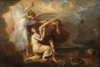 <i>The Expulsion of Adam and Eve from Paradise</i>,&nbsp; by Benjamin West (1791).&nbsp;&nbsp;(National Gallery of Art)