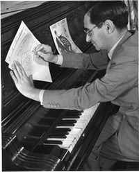 Irving Berlin at his piano in 1938. (Rodgers & Hammerstein: A Concord Music Company)