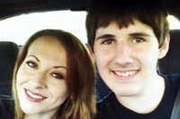 Zach Poston, 18, (with his mother, Jennifer) was saved from the Sutherland Springs church shooter when his grandmother threw herself over him like a shield.(GoFundMe)
