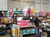 Boxed, a New York-based online retailer of bulk-size packages that competes with Costco and Sam's Club, opened its 75,000-square-foot fulfillment center in Flower Mound late last year. It's located at 501 Gerault Road.(Courtesy photo/Boxed)