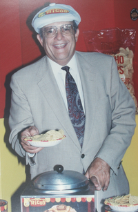 Frank Liberto, who owned San Antonio-based Ricos Products, died Sunday. He was credited with the concept of concession nachos.(Ricos Products)