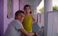 Willem Dafoe, left, the indefatigable moral center of the new movie, <i>The Florida Project</i>, now playing in the Dallas area.&nbsp;(A24)