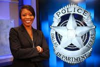 New Dallas Police Chief Renee Hall posed for a photograph at Dallas City Hall on Sept. 12. (Jae S. Lee/Staff Photographer)