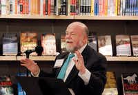 Southern Methodist University Dedman School of Law Associate Professor of Law Bill Bridge speaks during a panel discussion about freedom of speech on college campuses at Interabang Books in Dallas, Thursday, November 9, 2017.(Brandon Wade/Special Contributor)