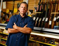 Fred Ohnesorge, the owner of Acme Guns & Gear in Floresville, says interest in licenses to carry handguns in Wilson County have risen since the mass shooting at a church in nearby Sutherland Springs.(Nathan Hunsinger/Staff Photographer)