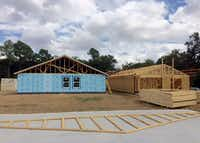 Dallas Area Habitat for Humanity is building several new homes in the Joppa neighborhood in southern Dallas.(Kathryn Holliday/University of Texas at Arlington)
