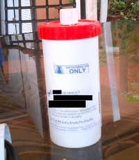 A compounded pain cream container involved in a federal health care fraud case. (HHS OIG)