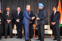 Sean Donohue, CEO of DFW International Airport, receives the CEO of the Year Award at the U.S. India Chamber's annual awards banquet. (U.S. India Chamber of Commerce)