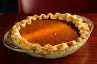 Plain old pumpkin pie is a can't miss choice for a Thanksgiving potluck.(2016 File Photo/Tom Fox)