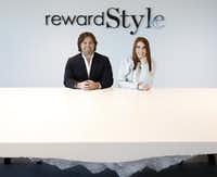 Baxter Box and Amber Venz Box, co-founders of rewardStyle, moved into new offices in the Centrum building in Dallas in 2016. RewardStyle is one of the most successful startups in recent Dallas history. (Rose Baca/Staff Photographer)