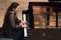 Pianist Simone Dinnerstein played during Monday's performance at SMU. (Rex C Curry/Special Contributor)