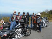 The Highway Disciples drive their motorcycles down the Talimena National Scenic Byway in southeastern Oklahoma. (Mike Coppock/Special Contributor)