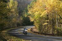 The Talimena National Scenic Byway in southeastern Oklahoma is 54 miles long and shows great fall foliage. (Michael Ives /Ackerman McQueen)