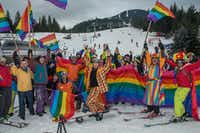 First to launch a downhill ski parade, Whistler Pride is Canada's biggest gay ski event.(jackson photografix/Whistler Blackcomb)