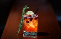 Cranberry Hibiscus Holiday Mocktail(Andy Jacobsohn/Staff Photographer)