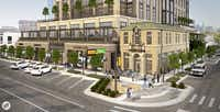 Rendering of the future development at Knox and Travis in Dallas.(GFF)