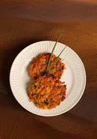 Spiralized Sweet Potato Latkes(Andy Jacobsohn/Staff Photographer)