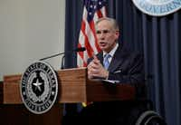 Texas Gov. Greg Abbott says he will work with the Legislature to enact stronger policies to address sexual harassment at the Capitol.(Eric Gay/The Associated Press)
