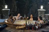 Craig Robinson, Rob Corddry, John Cusack and Clark Duke co-star in <i>Hot Tub Time Machine</i>.(Rob McEwan)