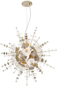 Possini Euro Tien Champagne and Smoke Pendant Light, $299.99, LampsPlus(LampsPlus)