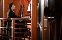 Organ soloist Vincent Dubois performs with the Dallas Symphony Orchestra at the Meyerson Symphony Center.(Jason Janik/Special Contributor)